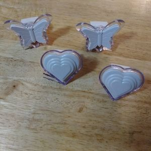 NITE LIGHTS-SET OF 4-BUTTERFLY & HEARTS